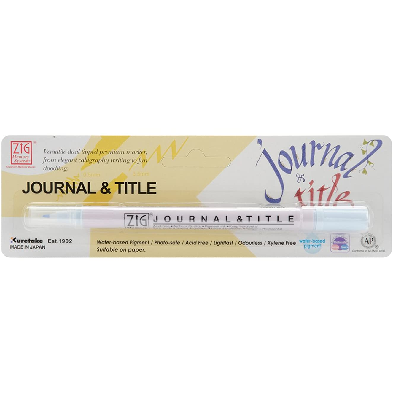 Zig Memory System Journal and Title Marker, Carded, Powder Blue