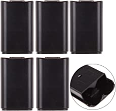 ttnight Battery Back Cover Case, 5pcs AA Replacement AA Battery Case Back Cover Shell for Xbox 360 Controller Black