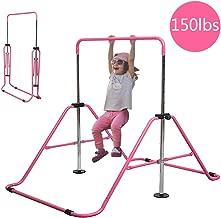 Slsy Gymnastics Bars Kids Kip Training Bars for Home, Folding Horizontal Bars with..