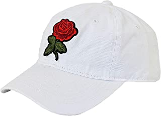 Nutriangee Men Women Rose Floral Embroidered Baseball Cap Cotton Adjustable Flower Dad Hat
