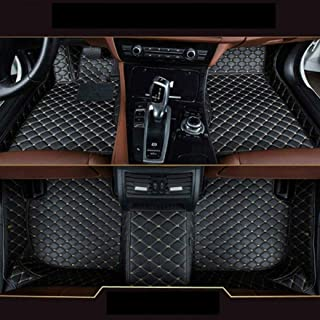 8X-SPEED Custom Car Floor Mats Fit for BMW 7 Series G11 G12 F01 F02 740i 740Li 745li 750i 750li 760i 2009-2012 Full Coverage All Weather Protection Waterproof Non-Slip Leather Liner Set Black