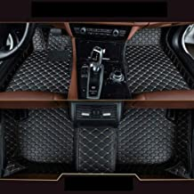 8X-SPEED Custom Car Floor Mats Fit for BMW X6 E71 E72 2015-2018 Full Coverage All Weather Protection Waterproof Non-Slip Leather Liner Set Black