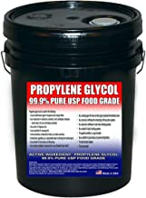 Propylene Glycol USP Kosher Certified 100% Pure Food & Pharmaceutical Grade - Highest Possible Purity - 43.1 lbs. nt. wt. in a 5 Gallon Pail in Safety Sealed HDPE Container with Resealable Cap