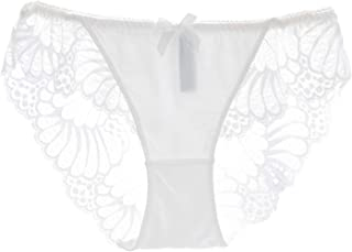 KELITCH Women's Briefs Scalloped Lace Hipster Thong Panty Sexy Seamless Underwear Panties Lingerie