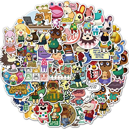 FENGLING Game Animal Crossing Cartoon Animation Sticker Forcomputer Motorcycle Guitar Skateboard Toy Game Machine Chi