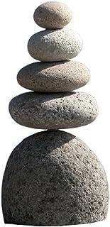Natural River Stone Quintuple Rock Cairn 5 Stacked Zen Garden Pile Stone