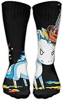 Angry Unicorn Classics Calcetines personalizados Sport Athletic Medias 30 cm Calcetín largo para hombres Mujeres