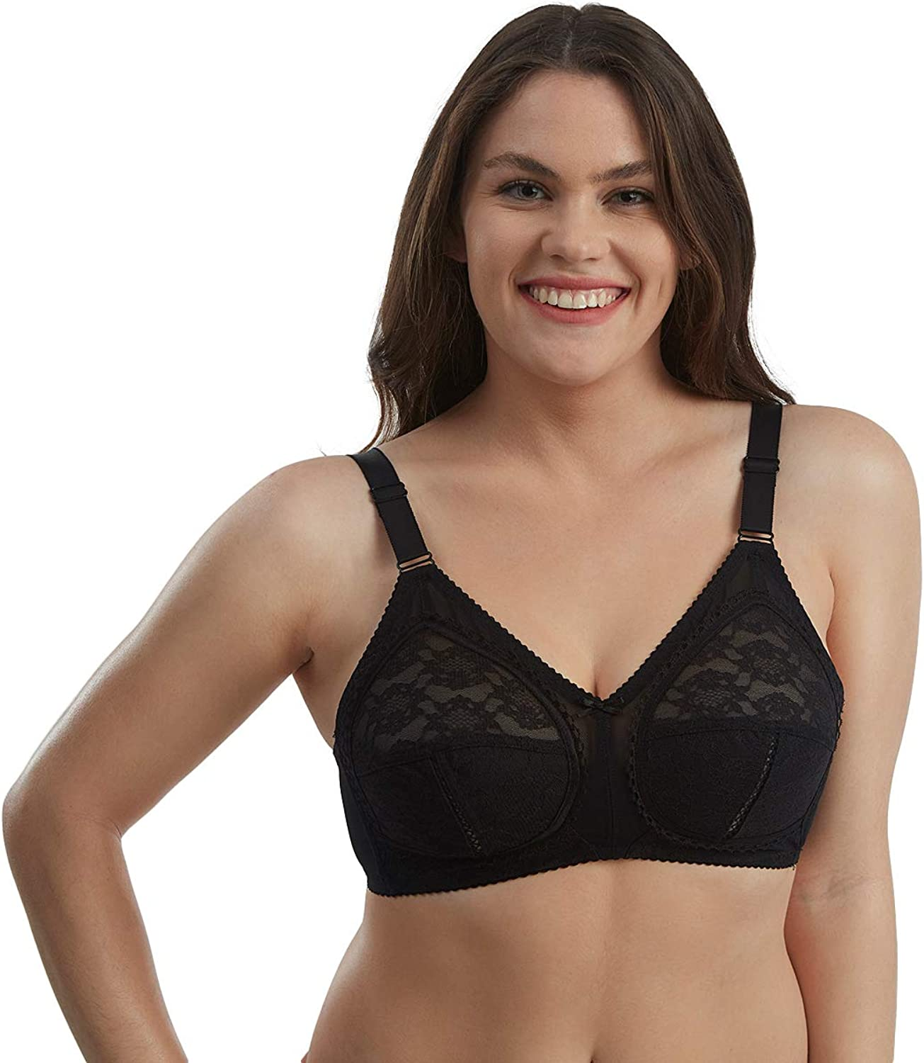 Everyday OFFicial shop Max 77% OFF Lace Bra – Women No-Wire Minimizer for