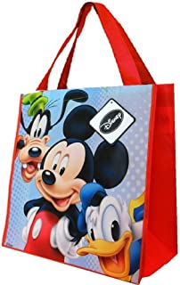 Reusable Tote Bag with Stickers (Disney Mickey Mouse Goofy and Donald Duck)