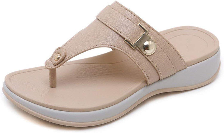 Tiwcer Wedges Slipper Women shoes Platform Comfortable Flip-Flops Summer Casual Rome Soft Lightweight
