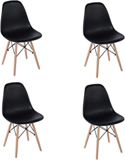 FurnitureR Eames Set de 4 Diseño Moderno Silla de Comedor c