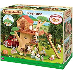 Children's treehouse with full of fun Includes a large swing hanging from a branch and an exciting long slide Well-made with fine attention to detail Good for stimulating imaginative role-play in children Suitable for ages three years to 10 years