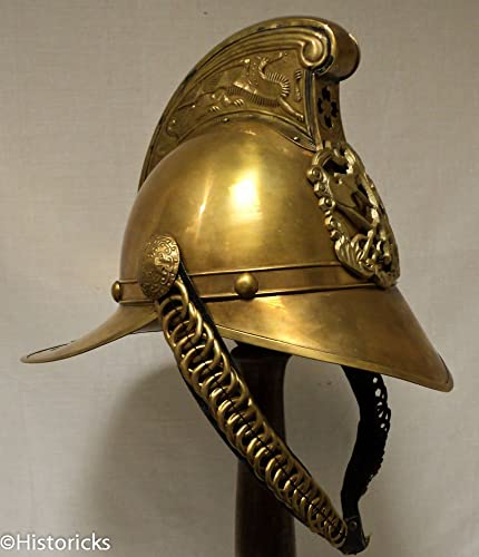 Antik British Feuerwehr Helm – Hand Made Messing Replica