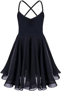 4f0285cb14fb6 IEFIEL Justaucorps de Danse Classique Fille T Shirt Extensible Robe sans  Manches Mousseline Camisole Enfant 2