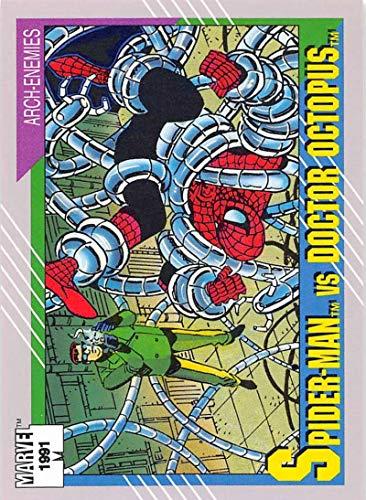 1991 Impel Marvel Universe Trading Card #105 Spider-Man vs. Doctor Octopus COND Officila Marvel Character Card