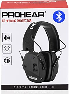 PROHEAR 030 Electronic Shooting Ear Protection Muffs with Bluetooth, Sound Amplification Noise Reduction Hearing Protector for Hunting, Great Ideas for Dad - Black