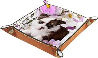 Vockgeng Animaux Chien Mignon Boîte de Rangement Panier Organisateur de Bureau Plateau décoratif approprié pour Bureau à D...