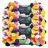 Lion Brand Yarn 516-214 Off The Hook, Tie Dye