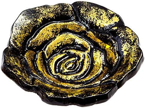 2021 Black online sale and Gold Rose Incense Burner 2021 Dish for Meditation, Yoga, Aromatherapy, Home Fragrance sale