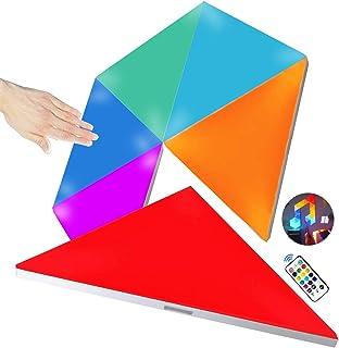 Amailtom LED Dreieck Wandleuchte, Smart LED Modulare Licht Platten Berührungssteuerung Mehrfarbiges RGBW Nachtlicht DIY Ge...