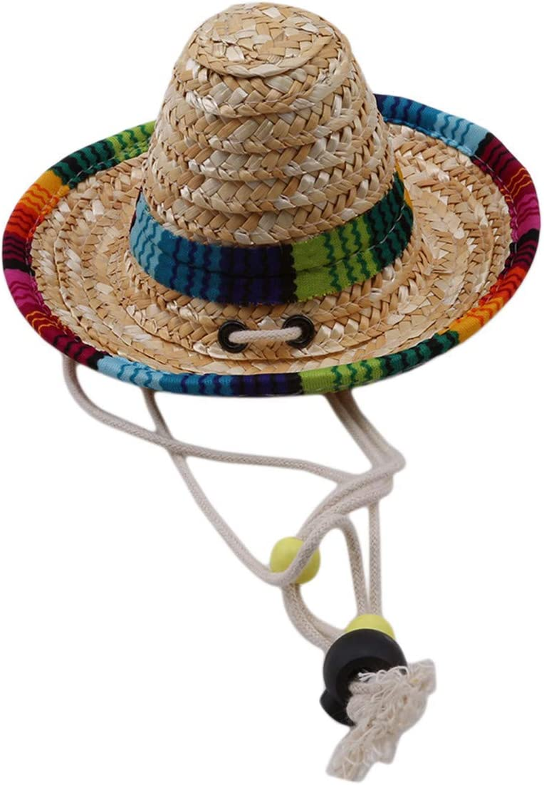 Yevison Pet Hat Cat Straw hat Caps Sale Summer Small Dog Sun Selling and selling