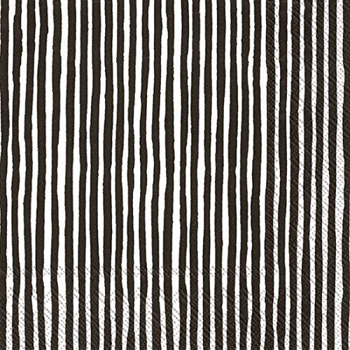 Marimekko Varvunraita Papier Servietten Lunch weiß/schwarz