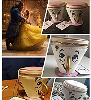 2017 Beauty and The Beast Chip Coin Purse 3D Cup Trinket Coin Bag Toys for Women Gift toys.Chip Cup Hand Wallet Phone Bag