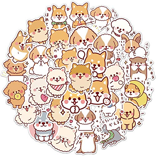 YZFCL Cute Dog Animal Graffiti Sticker Mixed Style Toy Suitcase Laptop Luggage Car Scooter Scooter Sticker 50pcs