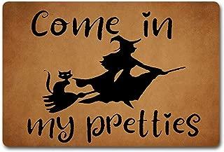 ZiQing Entrance Doormat Come On in My Pretty Doormat Hocus Pocus Door Rugs Witches Door Mats-Indoor Outdoor Door Mat Non-Slip Doormat 23.6 by 15.7 Inch Machine Washable Non-Woven Fabric
