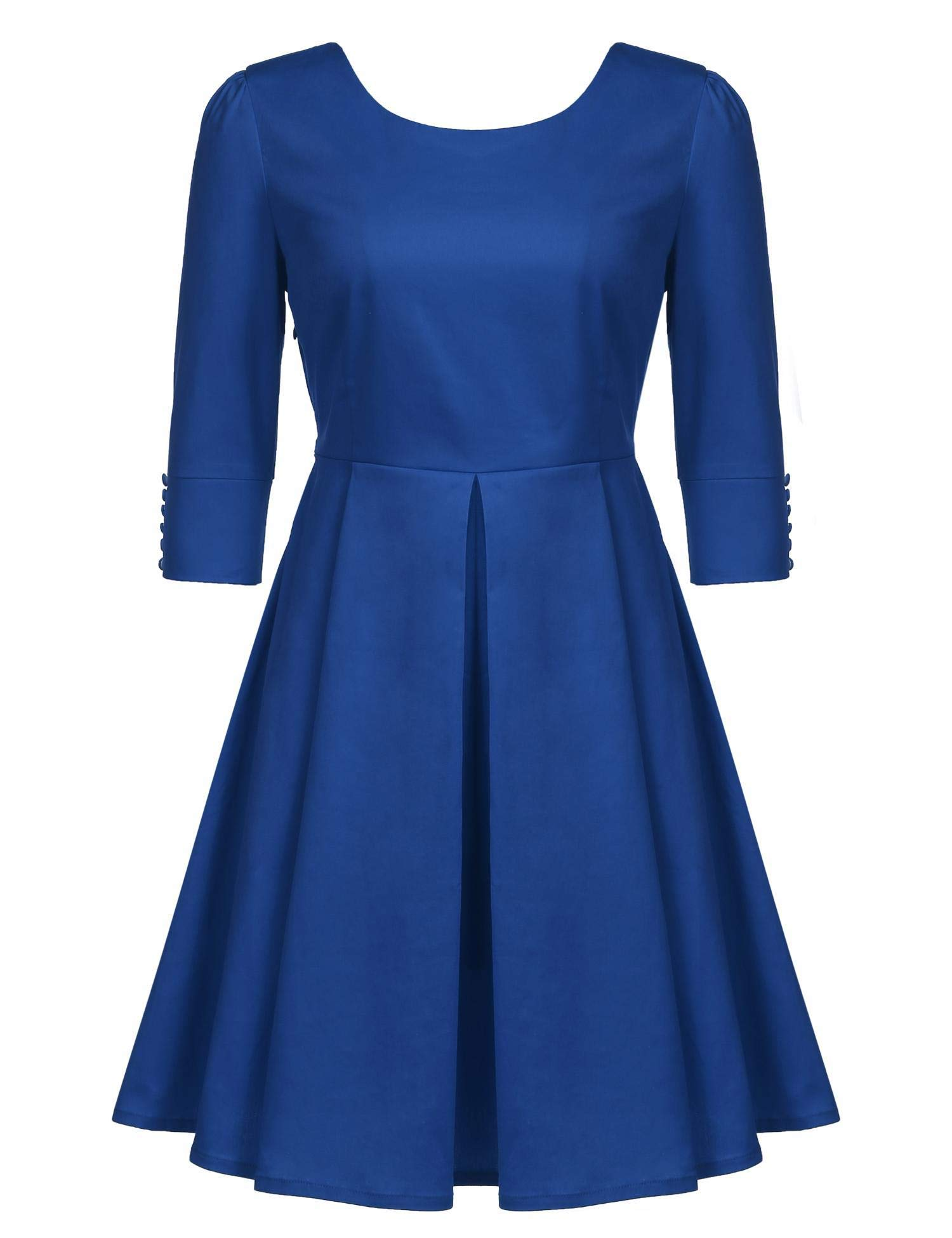 Available at Amazon: ELESOL Women's Casual Swing Dresses Short Sleeve A-Line Tea Dress Cocktail Party Dress