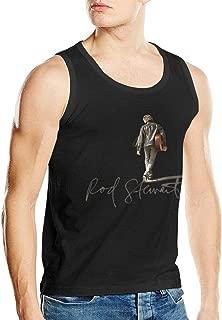 Rod Stewart Men's Muscle T Shirt Gym Athletic Everyday Tank Top Black