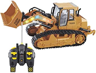 Redgiants 1:12 Remote Control RC Truck,Excavator Shovel Remote Control Construction Truck RC Bulldozer Truck Toy,Light RC Front Loader for Age 6 Boys Kids Gift