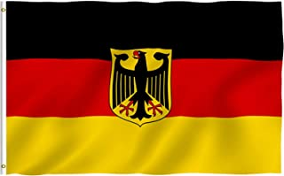 ANLEY® [Fly Breeze] 3x5 Foot German State Ensign Flag - Vivid Color and UV Fade Resistant - Canvas Header and Double Stitc...