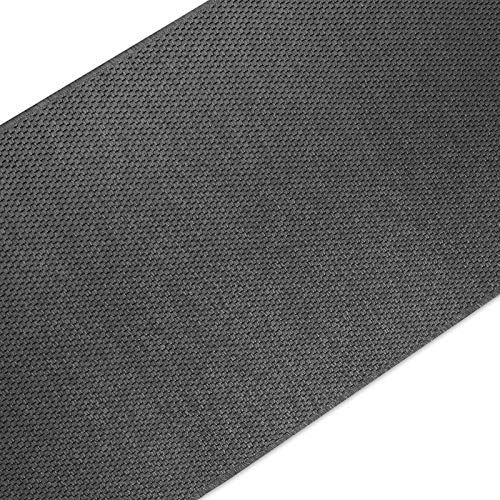 casa pura Teppich Läufer in Sisal Optik | Flachgewebe mit Tiger-Eye-Struktur | ausgezeichnet mit GUT-Siegel | kombinierbar mit Stufenmatten (Anthrazit, 100x200 cm)