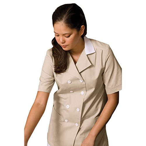 Edwards Garment Womens Two Pockets Housekeeping Double Breasted Tunic