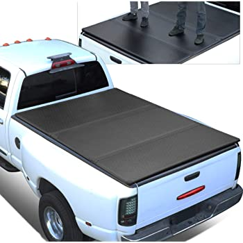 Amazon Com Hard Solid Tri Fold Tonneau Cover Replacement For 04 15 Nissan Titan 6 7 Ft Short Bed Fleetside Truck Automotive