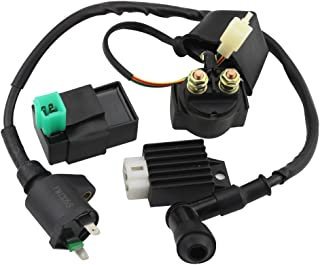 KSTE 2pcs Ignition Coil Fit Compatible with KAWASAKI EX500 NINJA 500 500R 1987-2009 Ignition Accessory