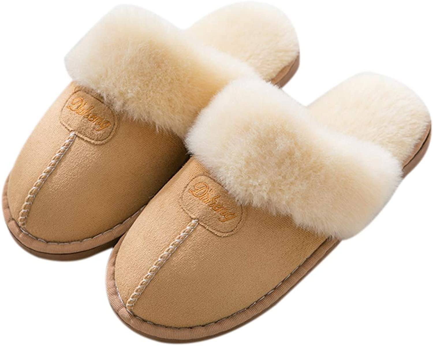Fendou Women House Slipper Fluffy Slip On Memory Foam Warm shoes