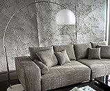 DELIFE Lampe Big-Deal XL Lounge Weiss höhenverstellbar Marmor Bogenleuchte