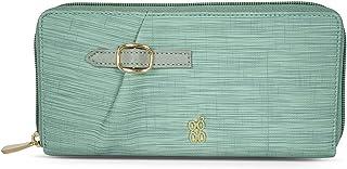 Baggit Spring-Summer 2021 Faux Leather Women's Ziparound Wallet (Green) (Xhinin)