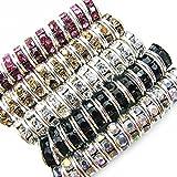 TOAOB 500 Piezas 6mm Multicolor Brillante Cuentas de Diamantes de Imitación Redondo Granos del Espaciador para La Fabricación de Joyas Arte de DIY