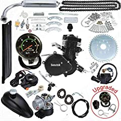 "80cc bicycle engine kit with speedometer.This bike engine kit fits most mens' 24"" and larger bicycles which includes mountain,cruiser,chopper and road bikes with a V-frame, at least a 8.5"" height clearance for the engine. Large bikes (larger frames/d..."