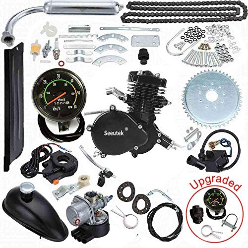 Seeutek 26 or 28 80cc Bike Bicycle Motorized 2 Stroke Cycle Motor Engine Kit Set