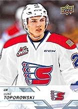 2018-19 Upper Deck CHL Hockey #231 Luke Toporowski Spokane Chiefs Official Canadian Hockey League Trading Card from UD