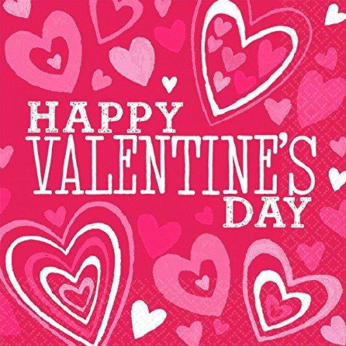 Buy Bargain amscan Valentine's Day Pink Beverage Napkins, 36 Ct. | Party Tableware