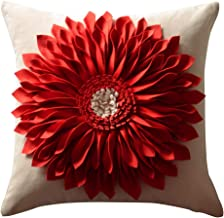 OiseauVoler Decorative 3D Sunflower Throw Pillow Cases Handmade Accent Cushion Covers for Home Sofa Car Bed Room Decor 18 x 18 Inch