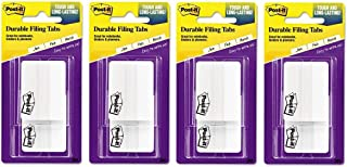 Post-it Tabs, 2 in, Solid, White, Durable, Writable, 25 Tabs/On-The-Go Dispenser, 2 Dispensers/Pack, Sold as 4 Pack
