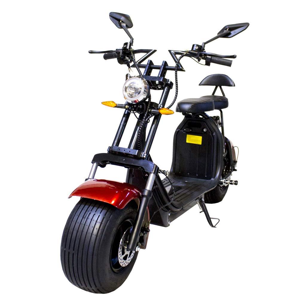 Moto el/éctrica CityCoco Doble Bater/ía Version XI Color Rojo//Negro 2000W//18.2aH