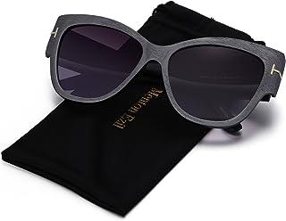 Argus Le Lennon Retro Round Sunglasses, Vintage Polarized Hipple Glasses with Plain Lens (Grey)