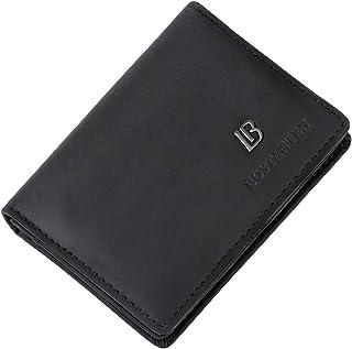 Bostanten Slim Mens Wallet Genuine Leather Wallets for Men Card case Holder